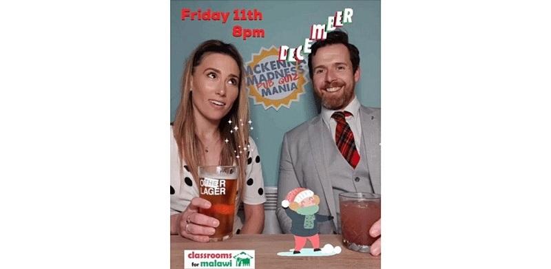 McKenna Madness Christmas Mania Pub Quiz poster